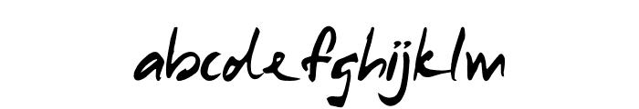Samurai Warrior Italic Font LOWERCASE