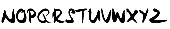 Samurai Warrior Font UPPERCASE