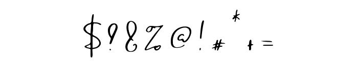 Sanctuary Regular Font OTHER CHARS