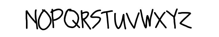 Sanders Font UPPERCASE