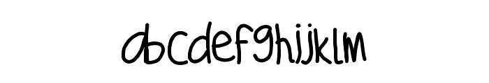 Sanders Font LOWERCASE