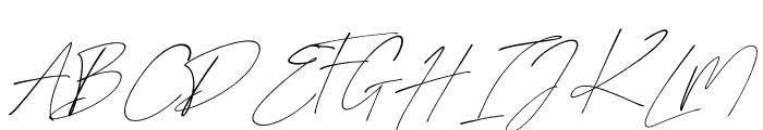 Sanrossi Script Italic Font UPPERCASE