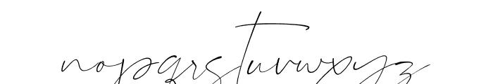 Sanrossi Script Italic Font LOWERCASE