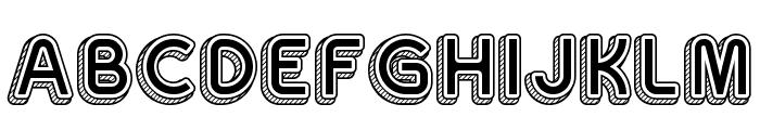 Sans One Vintage Regular Font UPPERCASE