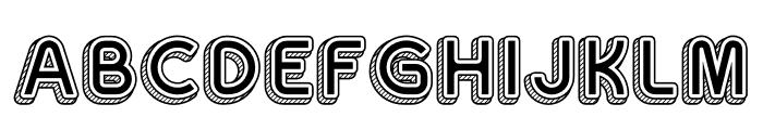 Sans One Vintage Font UPPERCASE