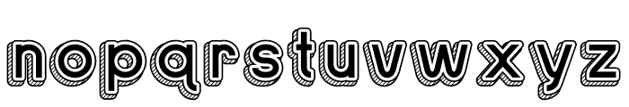 Sans One Vintage Font LOWERCASE