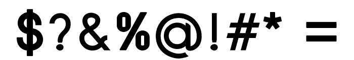 SansOne Demi Regular Font OTHER CHARS