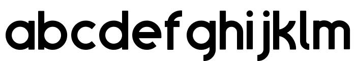 SansOne Demi Regular Font LOWERCASE