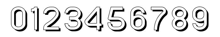 SansOne Regular Shadow Line Font OTHER CHARS