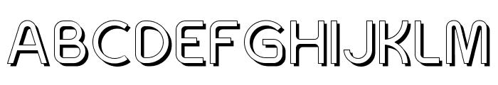 SansOne Regular Shadow Line Font UPPERCASE