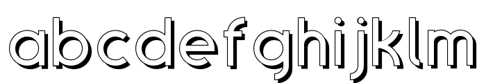 SansOne Regular Shadow Line Font LOWERCASE