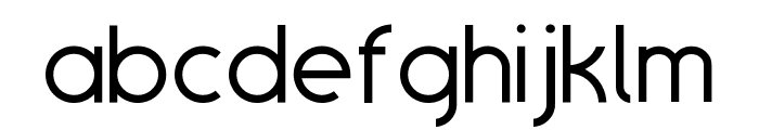 SansOne Thin Regular Font LOWERCASE