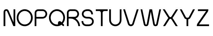 SansOne Thin Font UPPERCASE