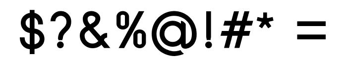 SansOne Font OTHER CHARS