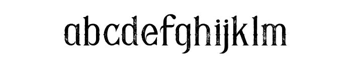 Savana Grunge Font LOWERCASE