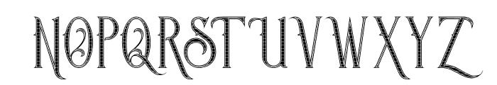 Savana Inline Grid Font UPPERCASE