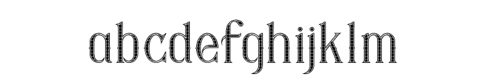 Savana Inline Grid Font LOWERCASE