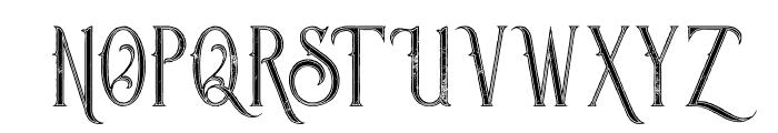 Savana Inline Grunge Font UPPERCASE