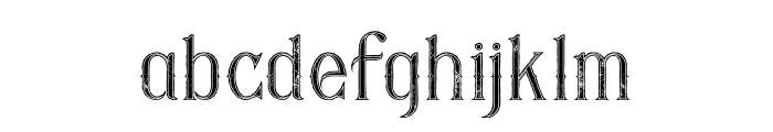 Savana Inline Grunge Font LOWERCASE
