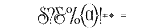 Savana Inline Font OTHER CHARS