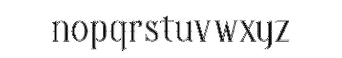 Savana Inline Font LOWERCASE