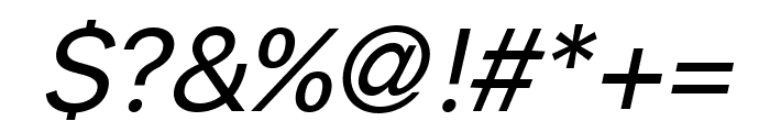 Savass Sans Italic Font OTHER CHARS