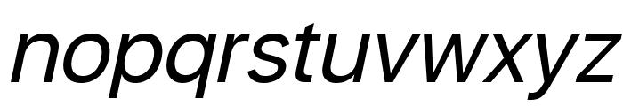 Savass Sans Italic Font LOWERCASE