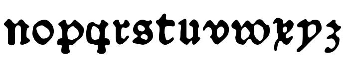 Schoensperger der Altere Font LOWERCASE