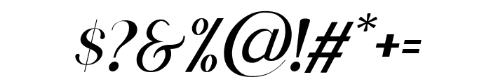 Scientific Graphics Sans Italic Font OTHER CHARS