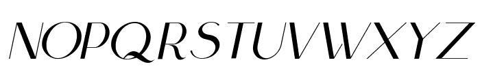 Scientific Graphics Sans Italic Font UPPERCASE