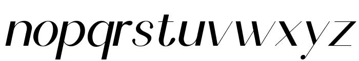 Scientific Graphics Sans Italic Font LOWERCASE
