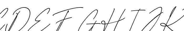 Scientific Graphics Sign Italic Font UPPERCASE