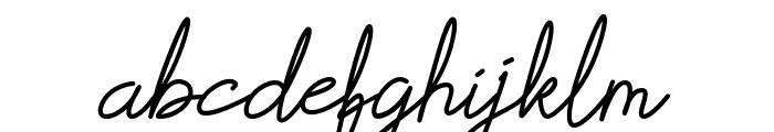 Scoutline Font LOWERCASE