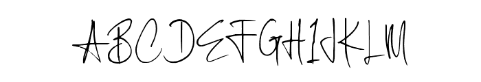 Scratched Font UPPERCASE