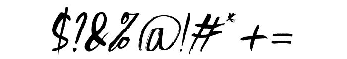 Scratchedman-Italic Font OTHER CHARS