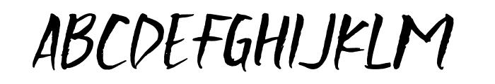 Scratchedman-Italic Font UPPERCASE