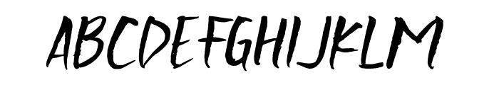 Scratchedman-Italic Font LOWERCASE