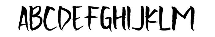Scratchedman-Regular Font UPPERCASE