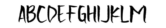 Scratchedman-Regular Font LOWERCASE