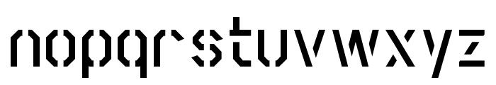 Scriber-BoldStencil Font LOWERCASE