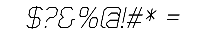 Scriber-ThinItalic Font OTHER CHARS
