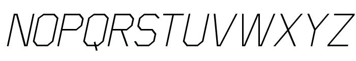 Scriber-ThinItalic Font UPPERCASE