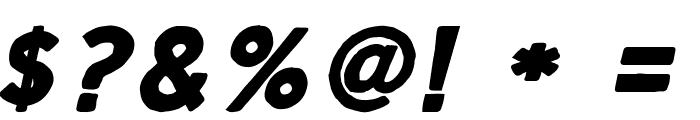 Script Calm Bold Italic Font OTHER CHARS