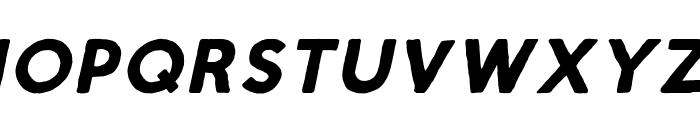 Script Calm Bold Italic Font UPPERCASE