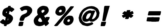 ScriptCalm-BoldItalic Font OTHER CHARS