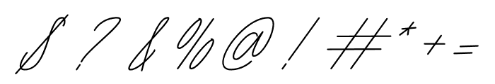 Seattle Script Italic Font OTHER CHARS