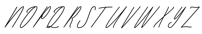 Seattle Script Italic Font UPPERCASE
