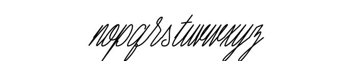 Seattle Script Italic Font LOWERCASE
