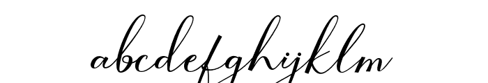 SeattleScript Font LOWERCASE