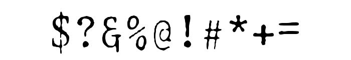 Selectric Adjutant Regular Font OTHER CHARS